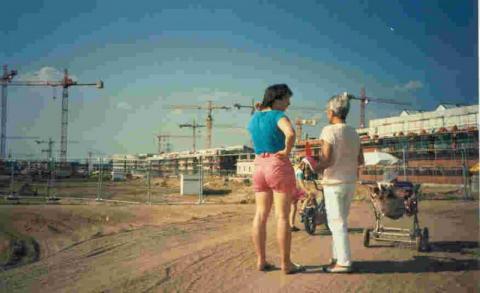 Foto der Baustelle in 1995